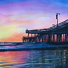 """""""Pismo Pier at Sunset"""" by T.Fowler-Bailey by tfowlerbailey"""