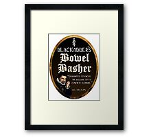 Blackadder's Bowel Basher Ale Framed Print