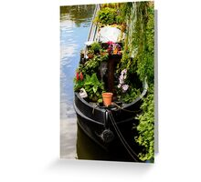 Houseboat horticulture Greeting Card