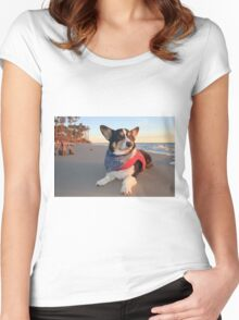Cute Lifeguard on Duty Women's Fitted Scoop T-Shirt