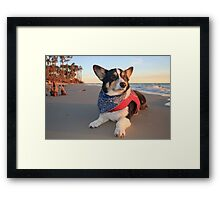 Cute Lifeguard on Duty Framed Print
