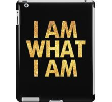 I am what I am lyric - John Barrowman (BLACK) iPad Case/Skin
