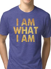 I am what I am lyric - John Barrowman (BLACK) Tri-blend T-Shirt