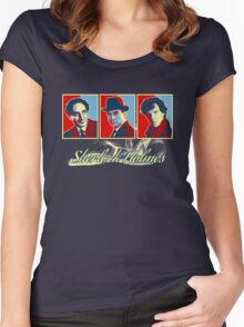 Sherlock Trilogy x3 - RYB Women's Fitted Scoop T-Shirt