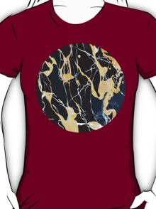 Black and gold marble T-Shirt