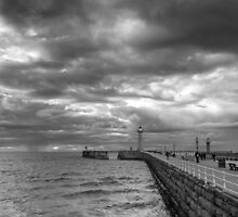 Storm Over Whitby by John Hall