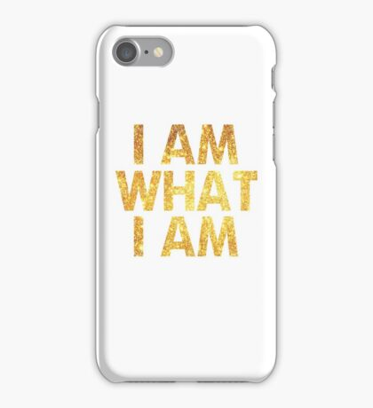 I am what I am lyric - John Barrowman (WHITE) iPhone Case/Skin