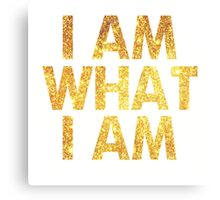 I am what I am lyric - John Barrowman (WHITE) Canvas Print