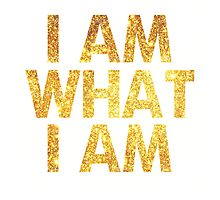 I am what I am lyric - John Barrowman (WHITE) Photographic Print