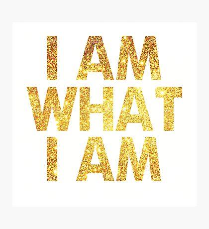 I am what I am lyric - John Barrowman (WHITE) Photographic Print