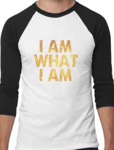 I am what I am lyric - John Barrowman (WHITE) Men's Baseball ¾ T-Shirt