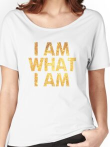I am what I am lyric - John Barrowman (WHITE) Women's Relaxed Fit T-Shirt