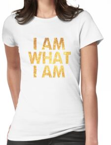 I am what I am lyric - John Barrowman (WHITE) Womens Fitted T-Shirt