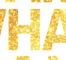I am what I am lyric - John Barrowman (WHITE) Sticker