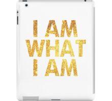 I am what I am lyric - John Barrowman (WHITE) iPad Case/Skin