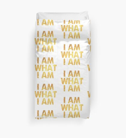 I am what I am lyric - John Barrowman (WHITE) Duvet Cover