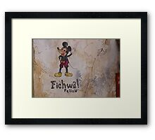 Fichwa! Fellow - Mickey Mouse Framed Print
