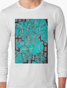 Aqua Tennis art Long Sleeve T-Shirt