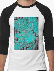 Aqua Tennis art Men's Baseball ¾ T-Shirt