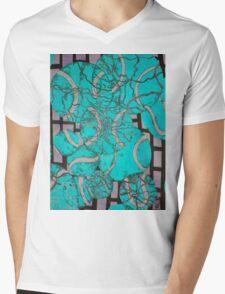 Aqua Tennis art Mens V-Neck T-Shirt