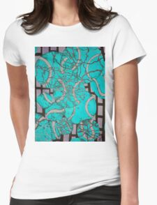 Aqua Tennis art Womens Fitted T-Shirt
