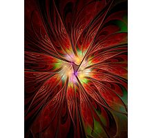 Red Jungle Flower Photographic Print