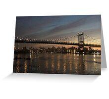New York Night-time Skyline Greeting Card