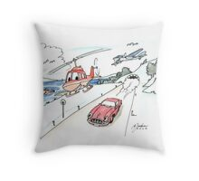 Funny car, airplane, boat and helicopter Throw Pillow