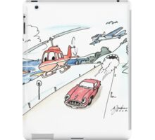 Funny car, airplane, boat and helicopter iPad Case/Skin