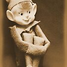 Vintage Christmas Elf by Carrie Bonham