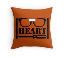 Alex Heart Piper Throw Pillow