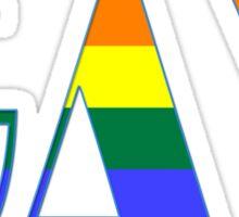 gay rainbow - gay, love, csd, rainbow, lesbian, pride Sticker