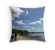 A Lover's Stroll Throw Pillow