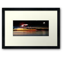 Rocket To The Moon 01 Framed Print