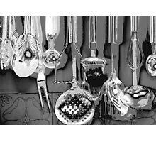 Shiny kitchen utensils Photographic Print