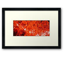 Red Abstract Art - Linked - By Sharon Cummings Framed Print