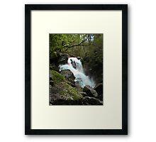 Moss Covered Rocks Framed Print