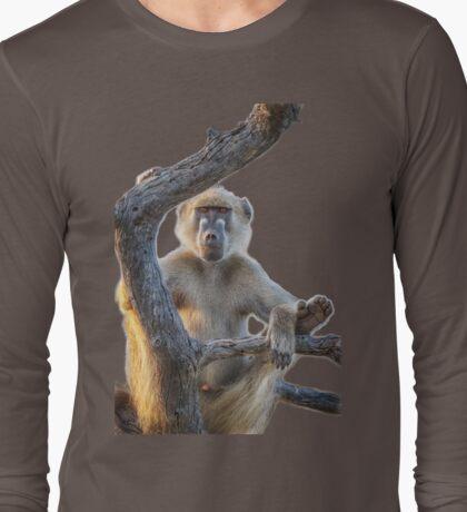 Too Laid Back – Adult Male Baboon Long Sleeve T-Shirt