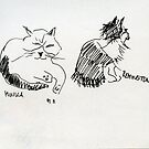 Sketched Cats 1 by Gabriele Maurus