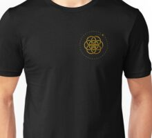 Earth & Moon - Gold Unisex T-Shirt
