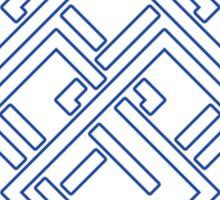 Square Earth Flag Sticker