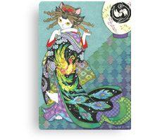 Phoenix Uchikake Kimono Kitty Canvas Print