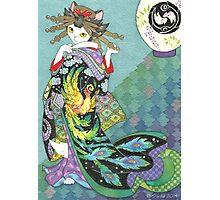 Phoenix Uchikake Kimono Kitty Photographic Print