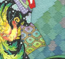 Phoenix Uchikake Kimono Kitty Sticker