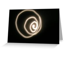 Moon Coil Greeting Card