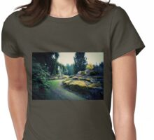 Moss Covered Womens Fitted T-Shirt
