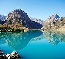 Lake in Tajikistan by Simon Burns