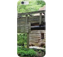Dellinger Grist Mill in Bakersville, NC iPhone Case/Skin