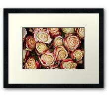 Strawberris And Cream Framed Print