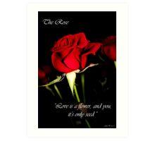 The Rose Card Art Print